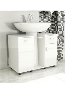 Gabinete De Banheiro Due Branco Tomdo