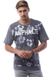 Camiseta Asphalt Floral Print Masculina - Masculino