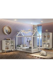 Dormitório Ravi Guarda Roupa Comoda Montessoriana Cama Casinha Montessoriana Carolina Baby