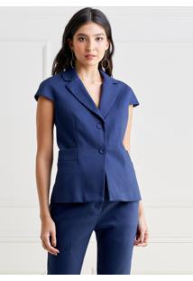 Colete Mx Fashion Sarja Piquet Pierre Azul Marinho