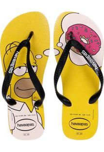 Chinelo Masculino Havaianas Simpsons Amarelo