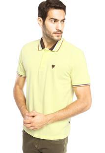Camisa Polo Cavalera Color Frisos Amarela