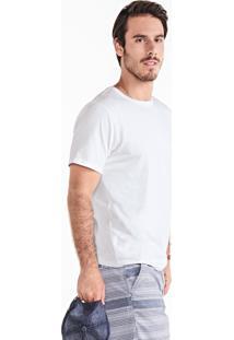 Camiseta Masculina Básica Na Modelagem Regular Em Algodão Pima