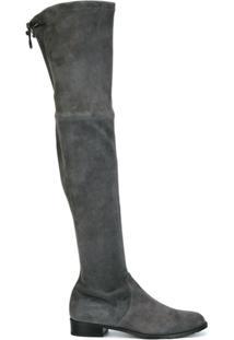 Stuart Weitzman Bota De Camurça Modelo 'Lowland' - Cinza