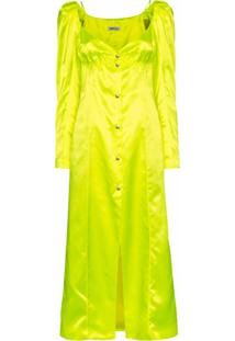 Supriya Lele Vestido Midi De Cetim - Amarelo