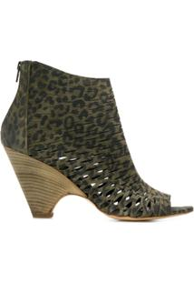 Strategia Ankle Boot Com Recorte - Green