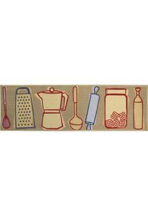 Passadeira De Cozinha Utensílios 50X160 Cm - Kapazi - Estampado