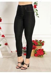Calça Jeans Jogger Com Elástico Sawary