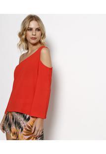 Blusa Lisa Ombro Vazado - Laranja Escuro- Moiselemoisele