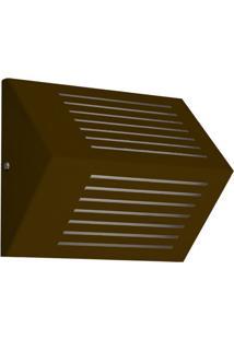 Arandela Triangular Com Rasgo Horizontal 6134 1 Lâmpada Café Pantoja&Carmona