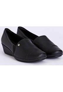 Sapato Salto Anabela Piccadilly Feminino Preto
