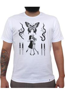 Flashes Tattoo - Camiseta Clássica Masculina