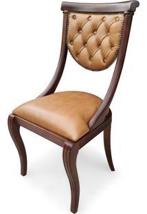 Cadeira Viena Estofada Madeira Maciça Design Italiano