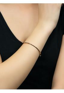 Pulseira De Ouro Rosê 18K Feminina Bracelete Algema.