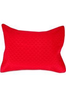 Porta Travesseiro 50X70Cm Microfibra Solecasa Vermelho