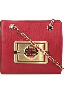 Bolsa Couro Jorge Bischoff Mini Bag Arraia Basic Feminina - Feminino-Vermelho
