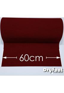 Tapete Dryfeet Vermelho 60Cm De Largura Por Até 10 Metros De Comprimento