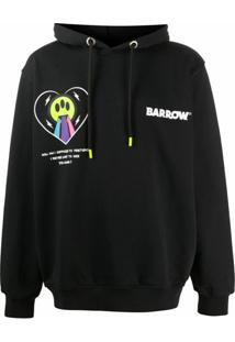Barrow Moletom Com Capuz E Estampa Gráfica - Preto