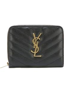 Saint Laurent Carteira Modelo 'Monogram' - Preto