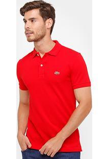 Camisa Polo Lacoste Piquet Slim Fit Masculina - Masculino