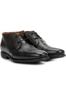Sapato Social Couro Richards Relax New Masculino - Masculino-Preto