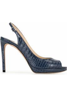 Jimmy Choo Sapato Nova Com Abertura Frontal E Salto 100Mm - Azul