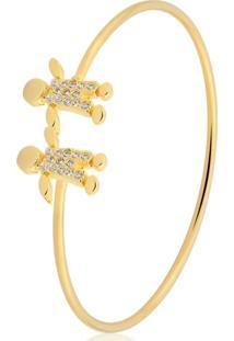 Pulseira Toque De Joia Bracelete Meninos Dourado