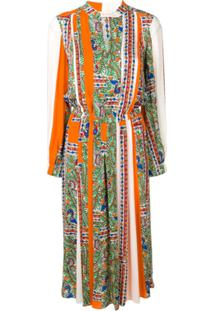 Tory Burch Printed Midi Dress - Neutro
