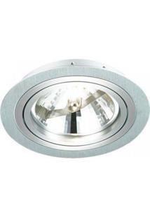 Spot Embutido Redondo Ecco Ar70 8Cmx12Cm Bella Iluminação - Caixa Com 3 Unidade - Alumínio Escovado