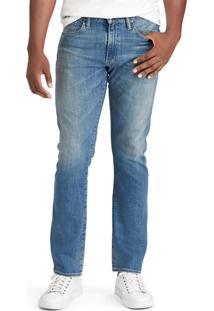Calça Jeans Polo Ralph Lauren Straight Fit Varick Azul
