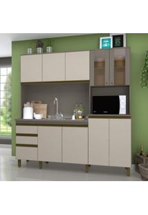 Cozinha Compacta 10 Portas 2 Gavetas Jasmine Siena Móveis Duna/Cristal