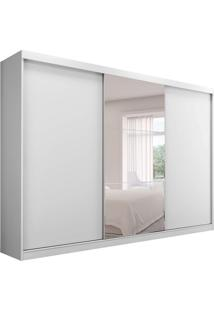 Guarda-Roupa Casal Com Espelho Atlanta 3 Pt 4 Gv Branco