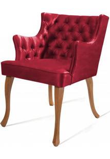 Poltrona Rocaille Capitone Vermelha Pes Tauari - 50179 - Sun House