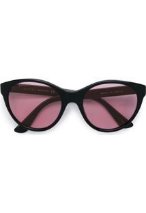Gucci Eyewear Óculos De Sol Qudrado - Preto