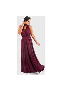 Vestido Ballad Varias Formas Vinho Rubi
