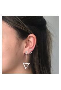 Brinco Triângulo Pequeno Prata 925