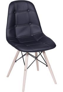 Cadeira Eames Botonãª- Preta & Bege Claro- 83X44X39Cmor Design