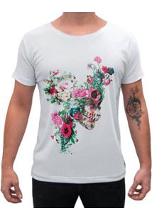 Camiseta Impermanence Estampada Floower Skull Masculina - Masculino