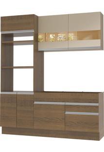 Cozinha Compacta Glamy Helen 6 Portas 2 Gavetas Madesa
