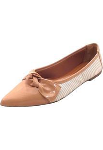 Sapatilha Mais Sapato Bico Fino Verniz - Feminino - Dafiti