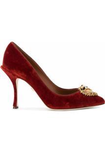 Dolce & Gabbana Scarpin Devotion Com Salto 100Mm - Vermelho