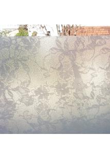 Adesivo Para Vidro Floral Rendado
