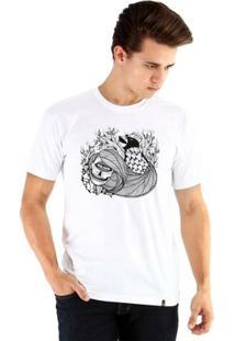 Camiseta Ouroboros Manga Curta Amour Lainne - Masculino-Branco