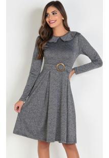 Vestido Mescla Com Gola Moda Evangélica