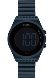 Relógio Euro Digital Eubjt016Ae/4A Feminino - Feminino-Azul