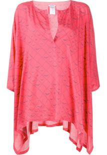 Zadig&Voltaire Blusa Assimétrica Com Padronagem De Logo - Rosa