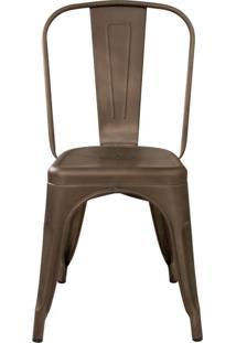 Cadeira Tolix Iron Bronze Fosco De Aço Carbono