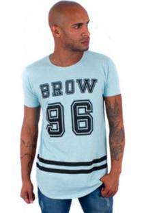 Camisa Rockstar Long Brow Azul Celeste