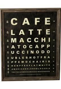 Quadro Decorativo Vintage De Parede Coffee Palace Com Moldura