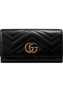Gucci Carteira Continental Gg Marmont - Preto